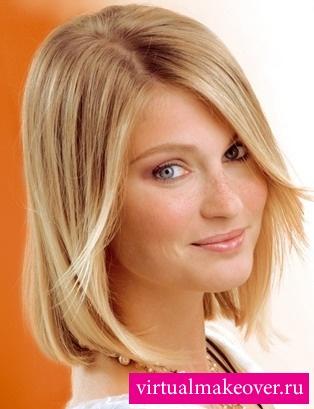 прически для светлых волос средней длины фото